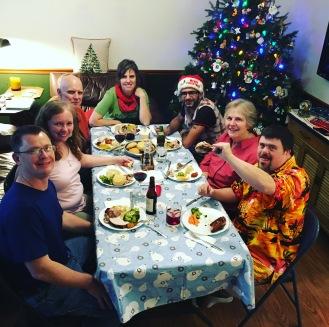 Christmas Eve dinner with family and friends